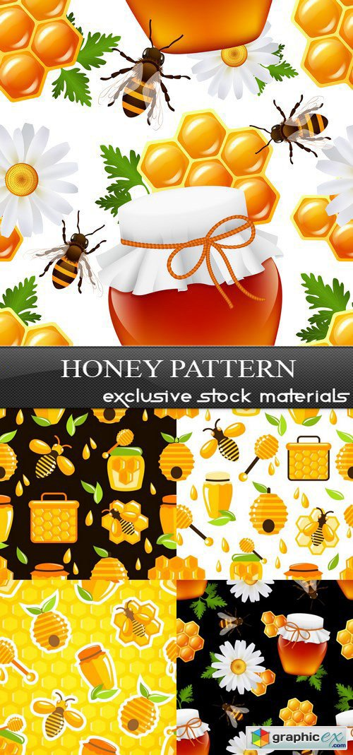 Honey Pattern - 5xEPS