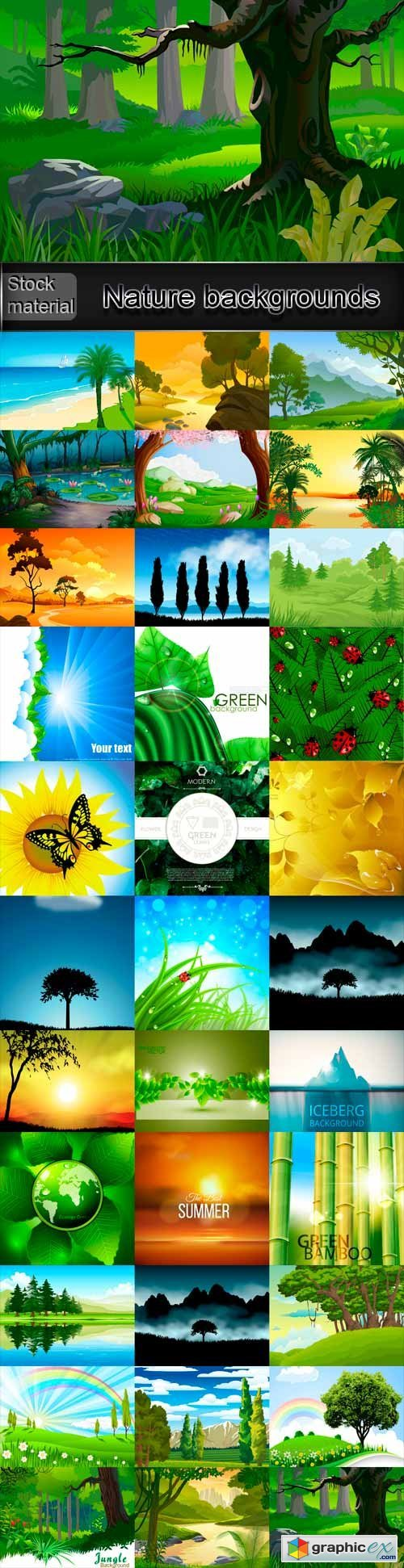 Nature vector backgrounds stock