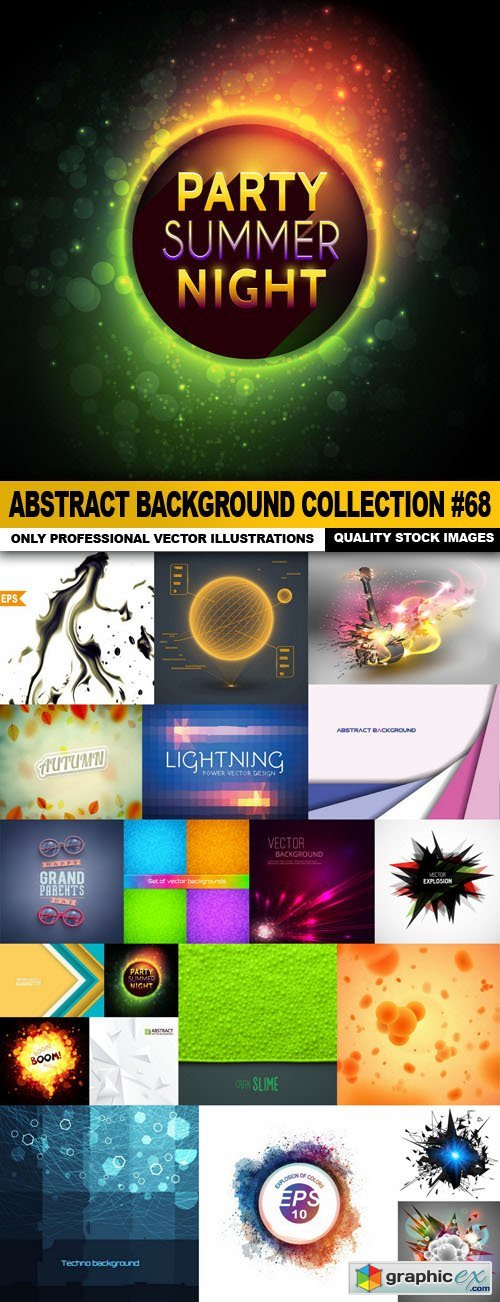 Abstract Background Collection #68 - 20 Vector