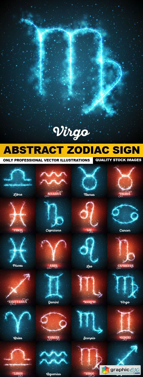 Abstract Zodiac Sign - 24 Vector