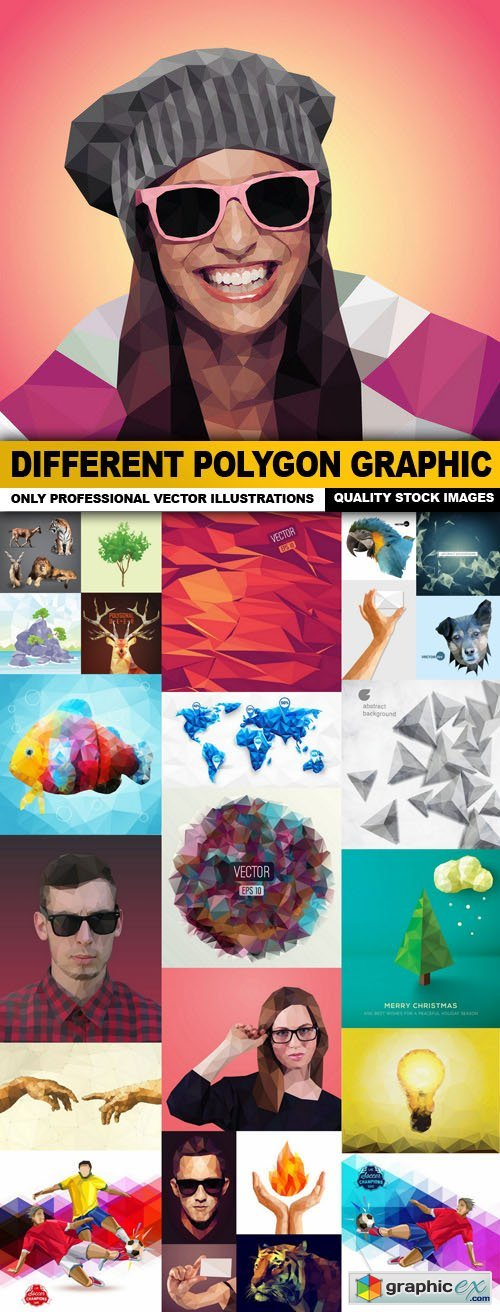 Different Polygon Graphic - 25 Vector