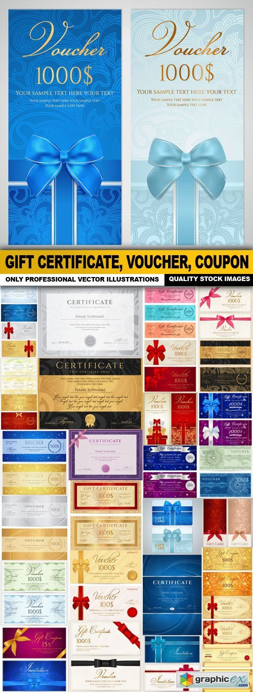 Gift Certificate, Voucher, Coupon - 30 Vector
