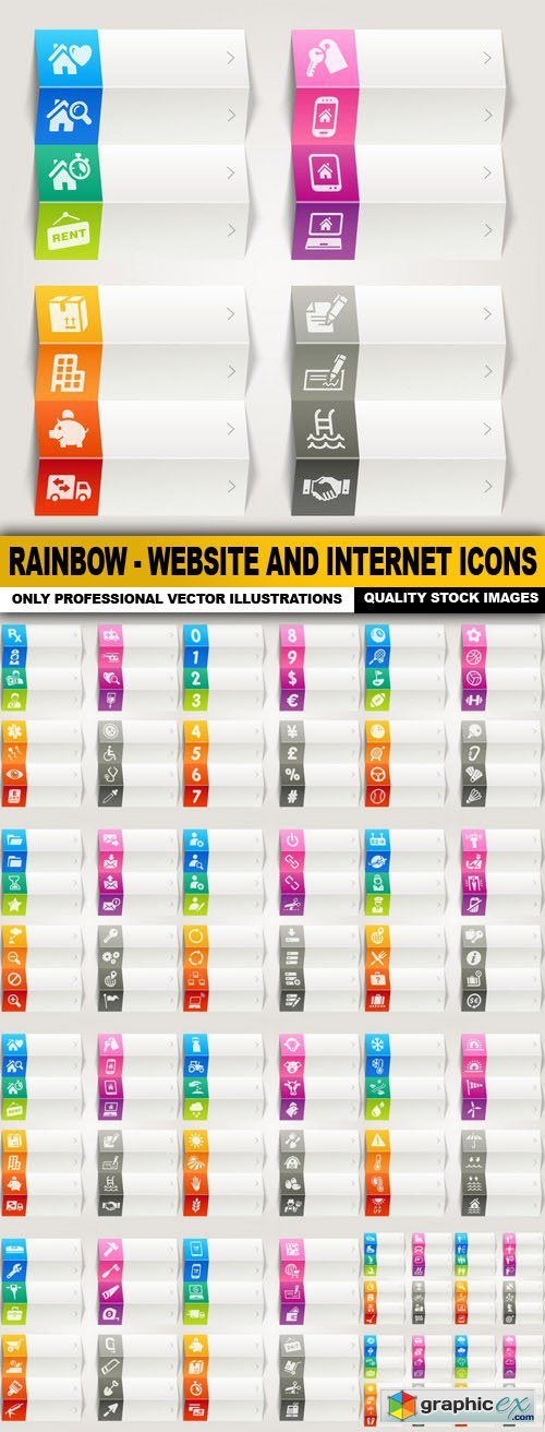 Rainbow - Website And Internet Icons - 15 Vector