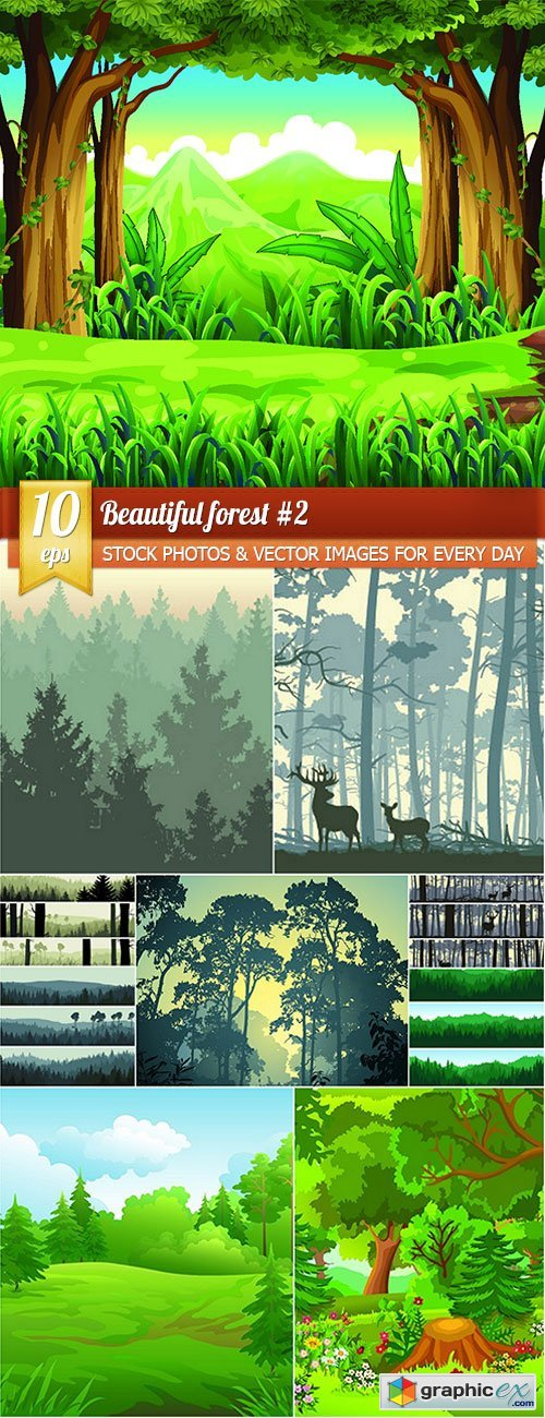 Beautiful forest 2, 10 x EPS