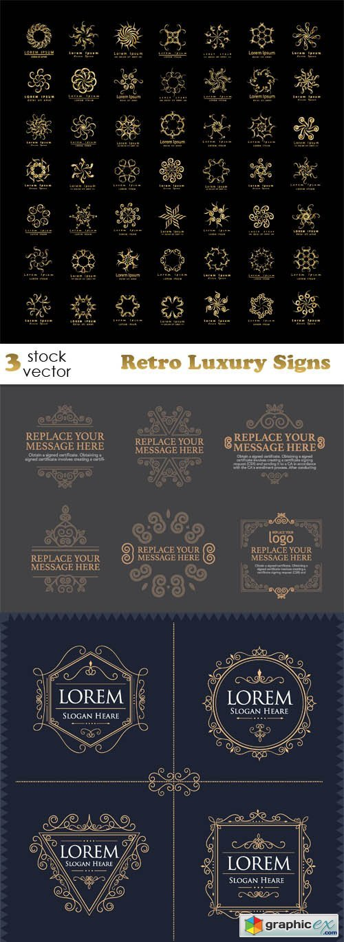 Vectors - Retro Luxury Signs