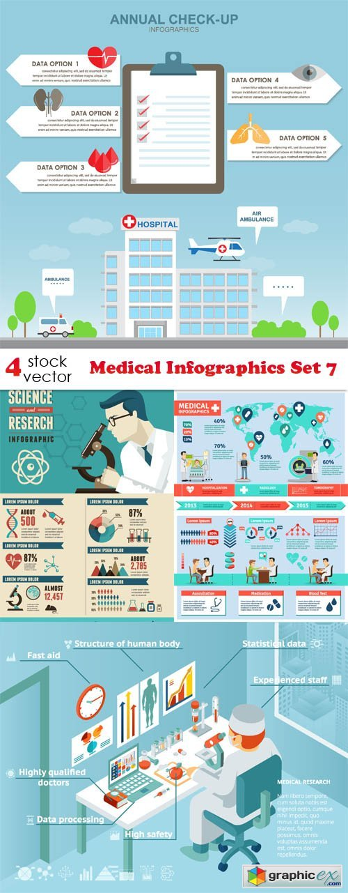 Vectors - Medical Infographics Set 7