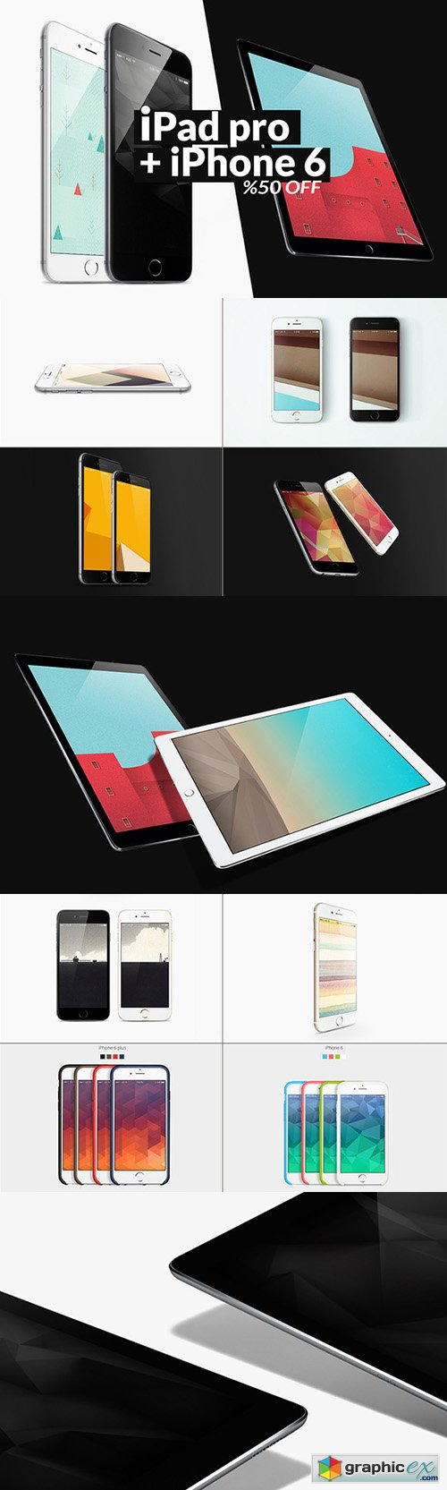 iPad pro+ iPhone 6 Mockups Bundle