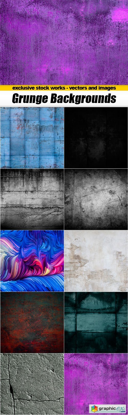 Grunge Backgrounds - 10x JPEGs