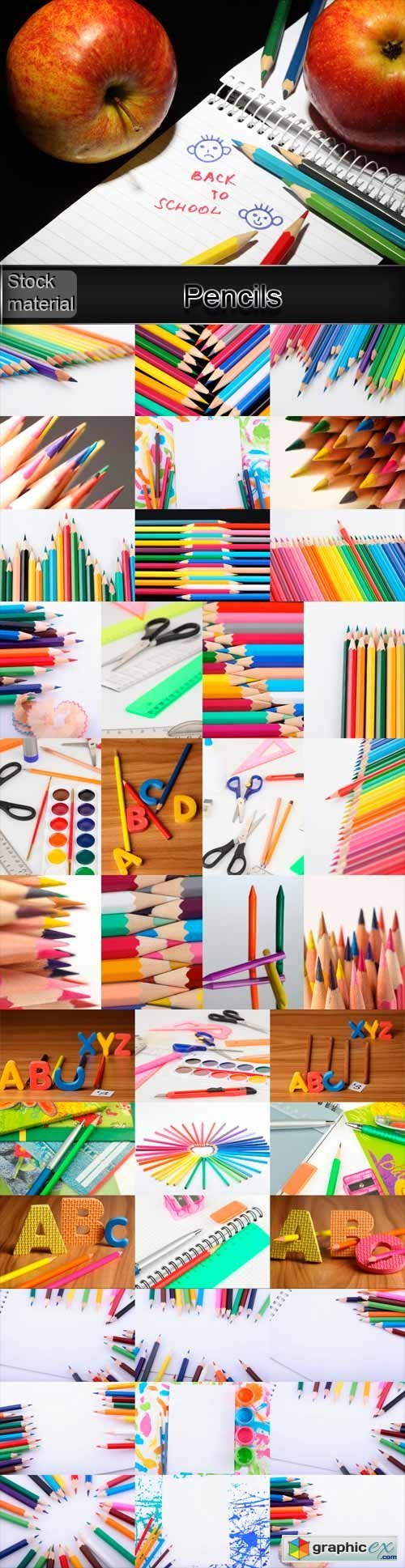 Pencils, paint, stationery products