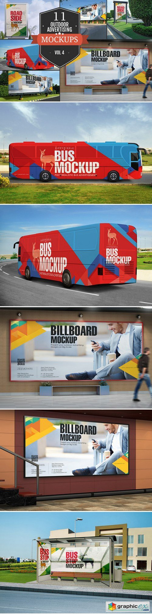 Outdoor Advertising Mockups Vol. 4