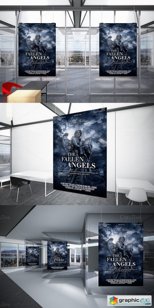 A3 - Movie Poster Print Template 2 » Free Download Vector