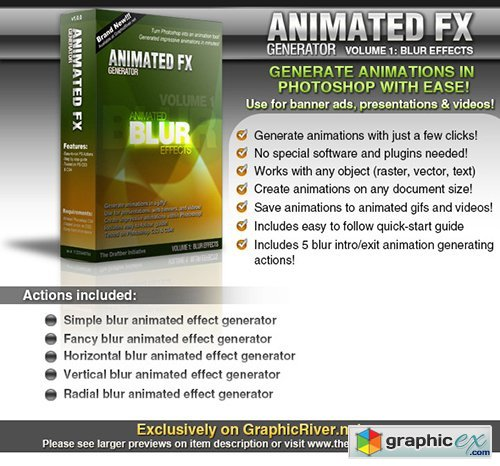Animated FX Generator vol. 1: Animated Blur FX