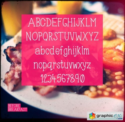 Before Breakfast typeface