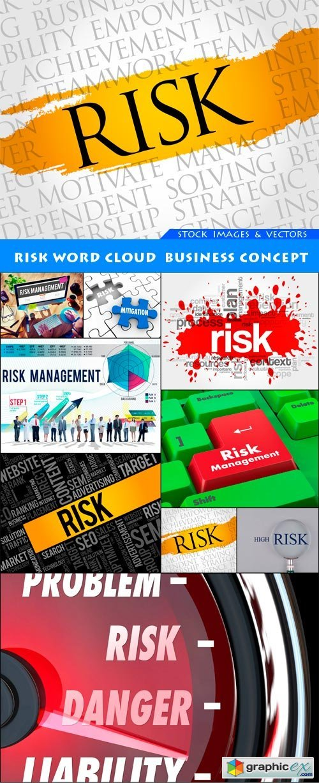 Risk word cloud business concept 9X JPEG