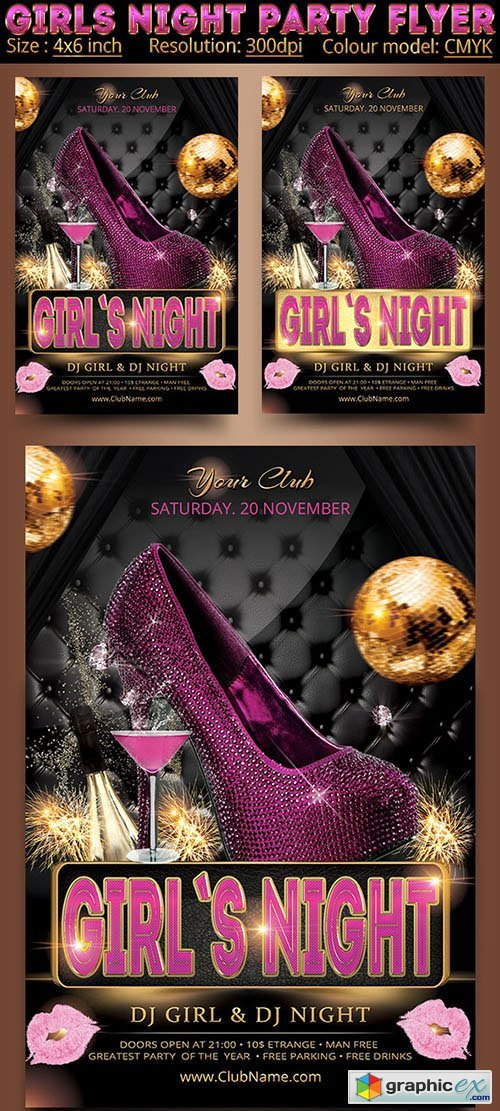 Girls Night Party Flyer