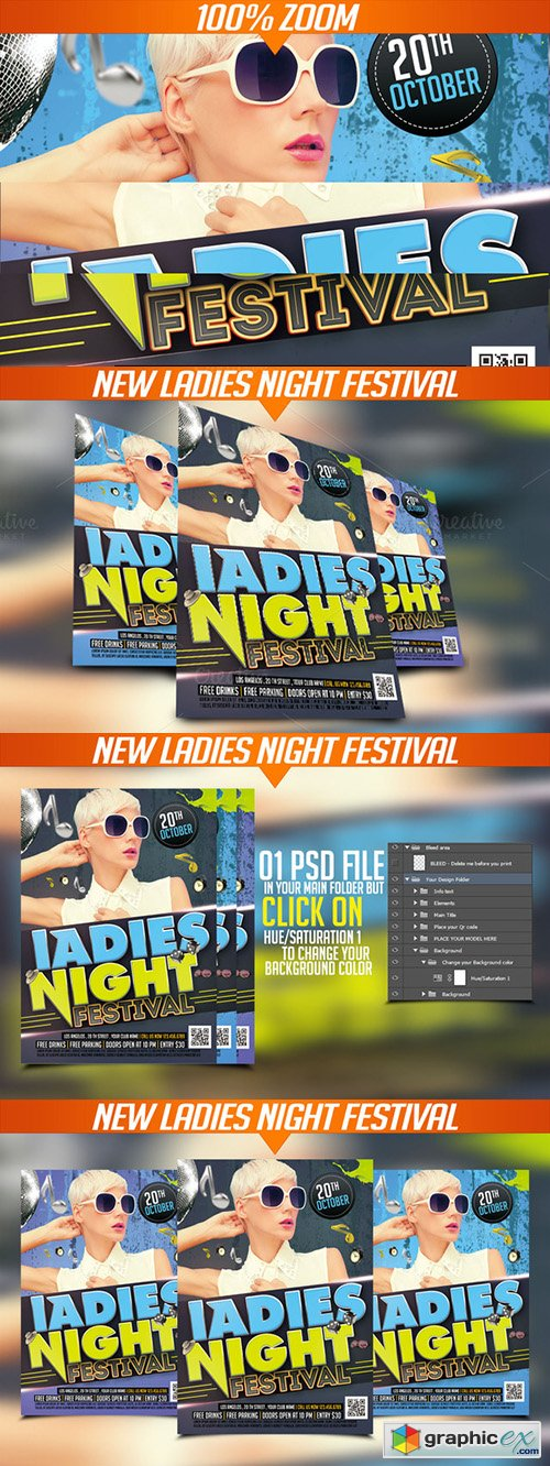 Ladies Night festival flyer