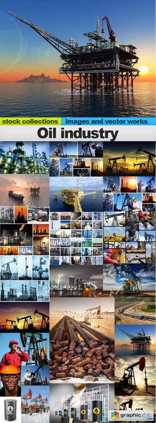 Oil industry, 25 x UHQ JPEG