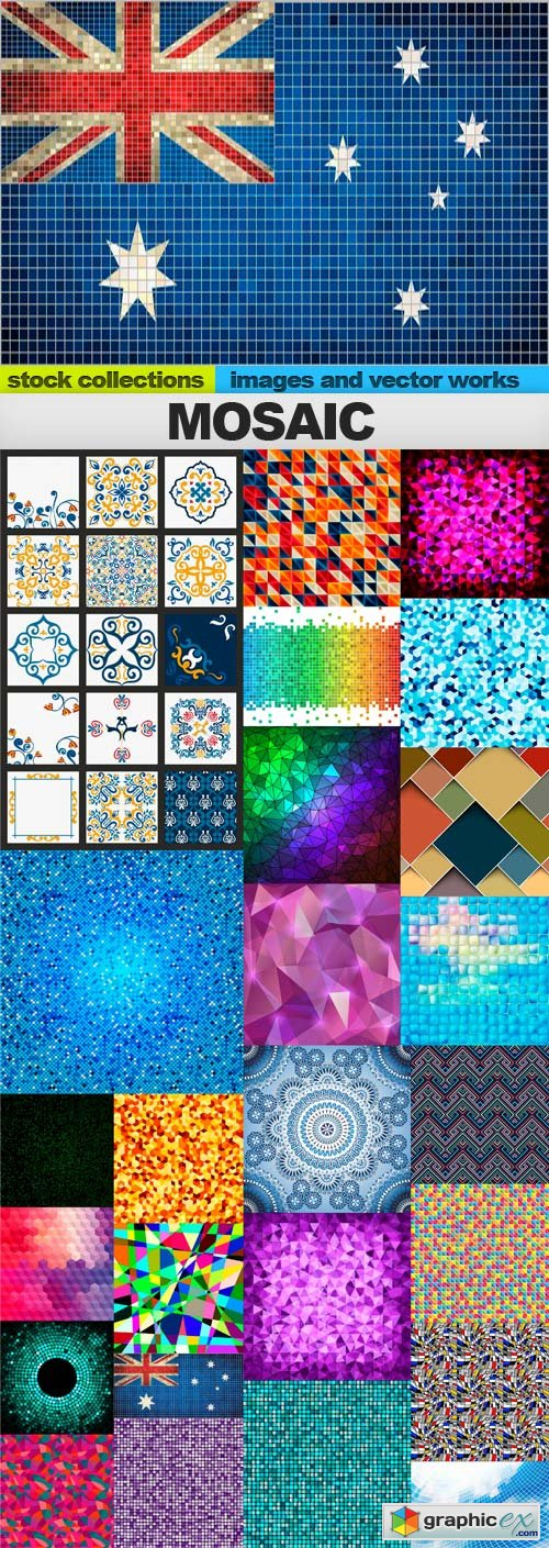 Mosaic, 25 x UHQ JPEG