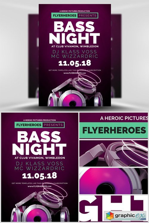 Bass Night Flyer Template 2