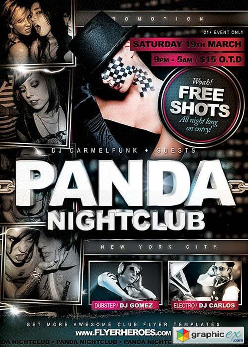 Panda Fresh Nightclub Flyer Template