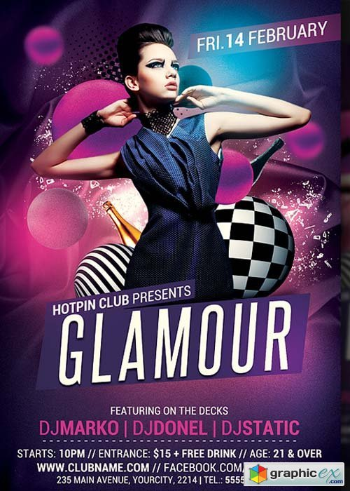 Glamour Party Flyer Template