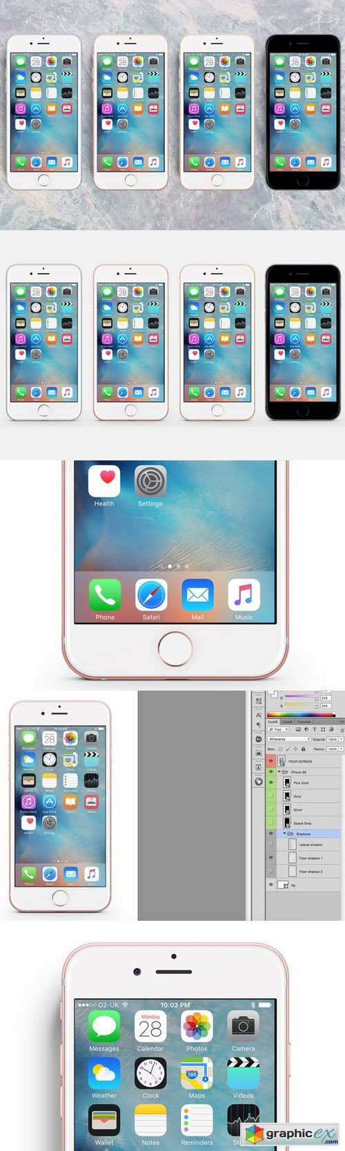 iPhone 6S PSD � Mockup all-in-one