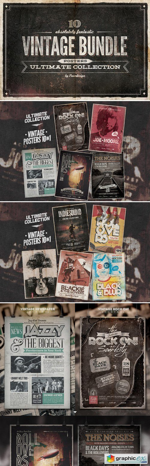 10 Ultimate Vintage Posters - Bundle
