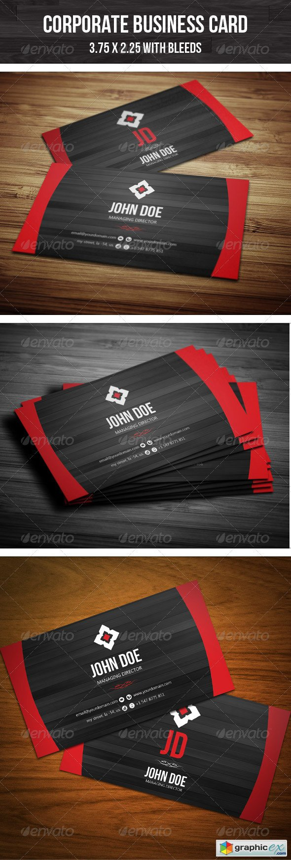 Corporate Creative Business Card 2538909