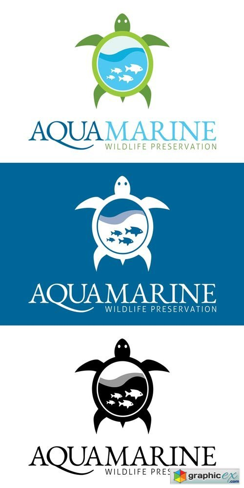 Marine Wildlife Aquarium Logo