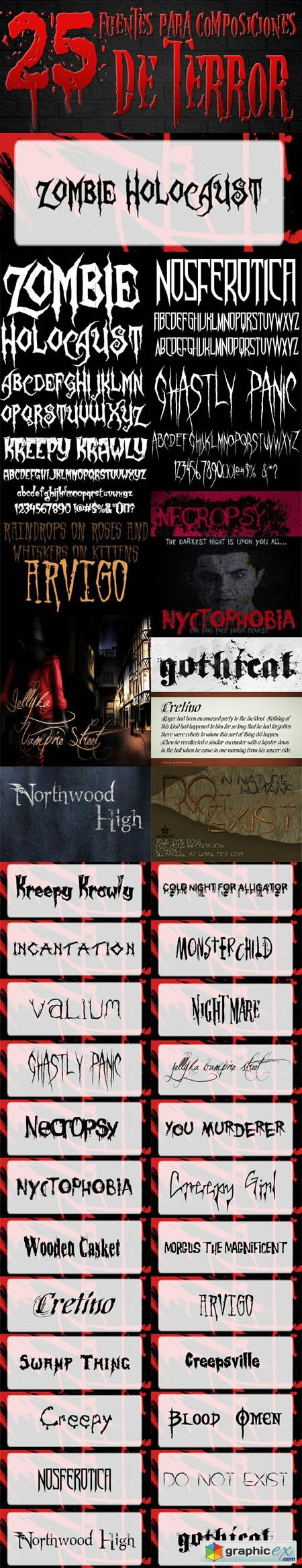 25 Creepiest Fonts For Horror Effects