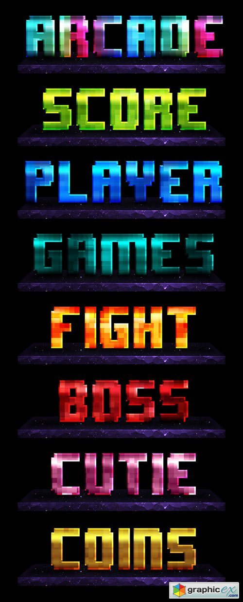 8-Bit Arcade Photoshop Layer Styles