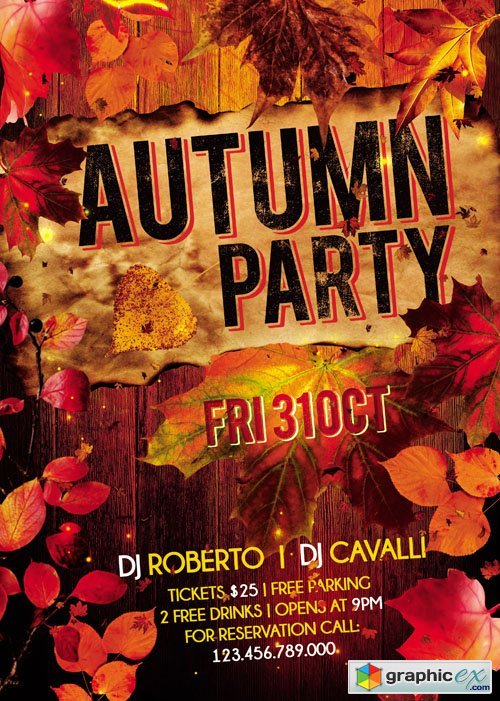 Autumn Party � Flyer Template + Facebook Cover