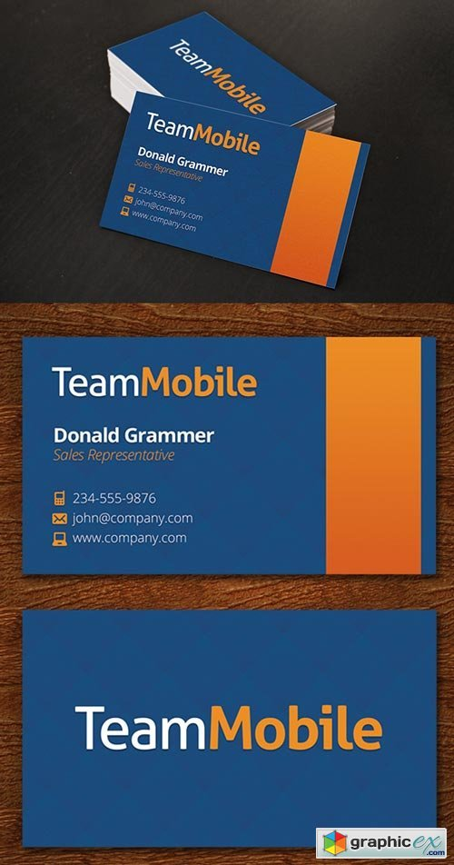 Mobile Business Card Template