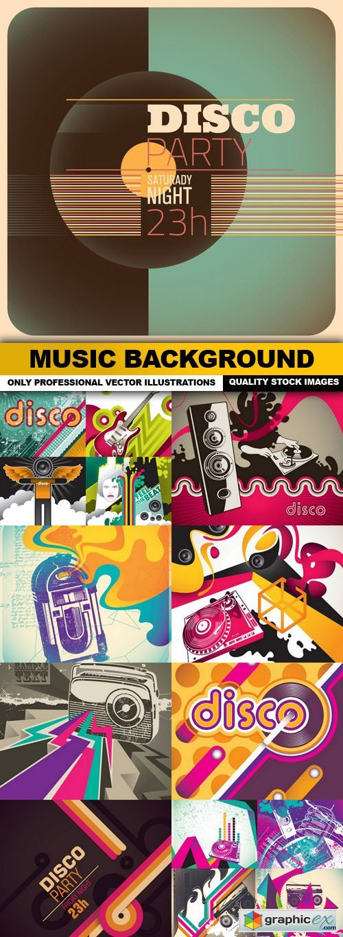 Music Background - 15 Vector