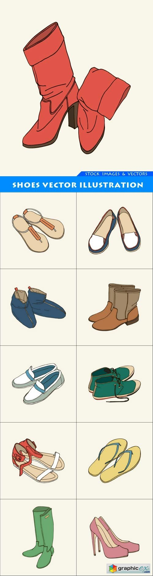 Shoes vector illustration 11X EPS