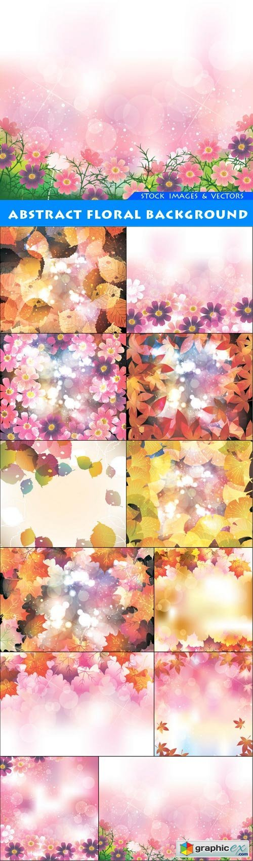 Abstract floral background 12X EPS
