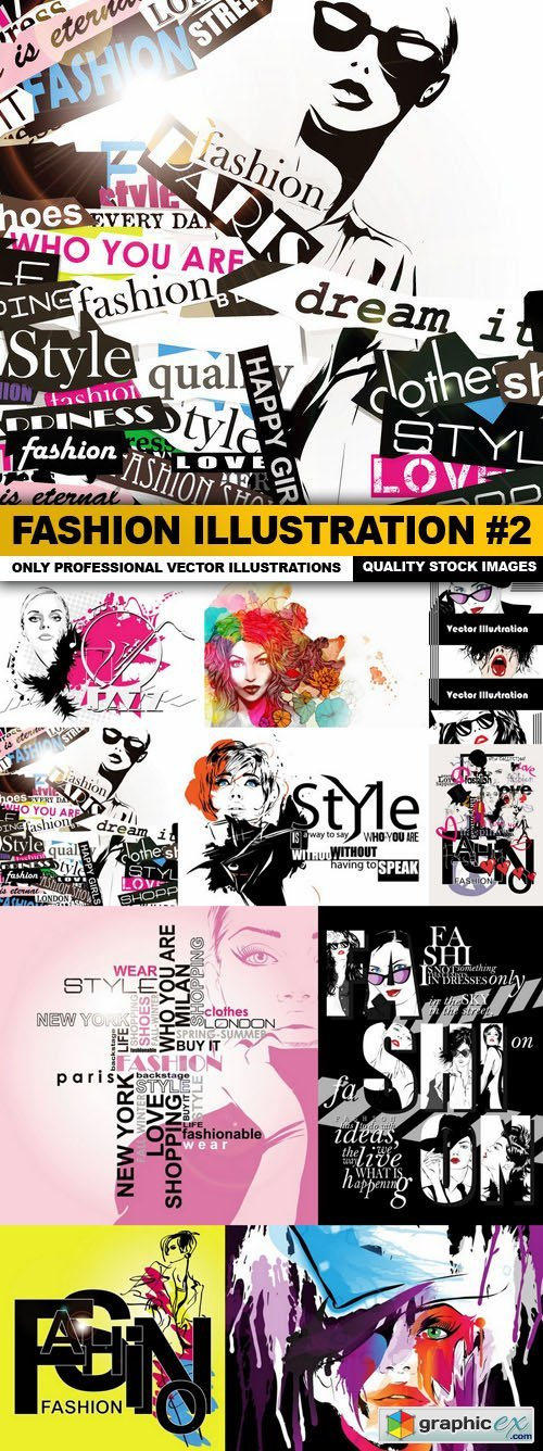 Fashion Illustration #2 - 10 Vector