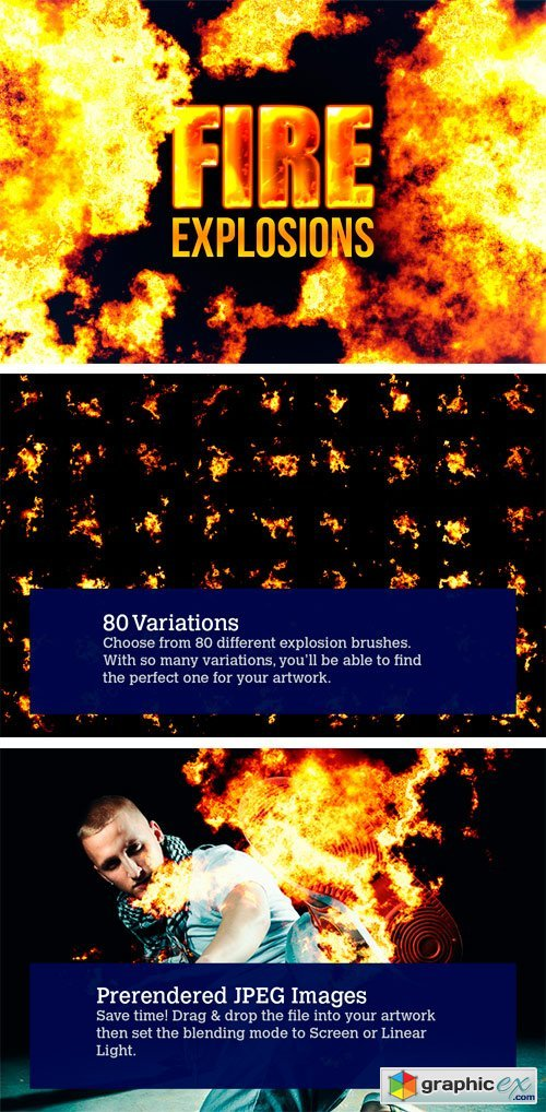 80 Photorealistic Fire Explosions