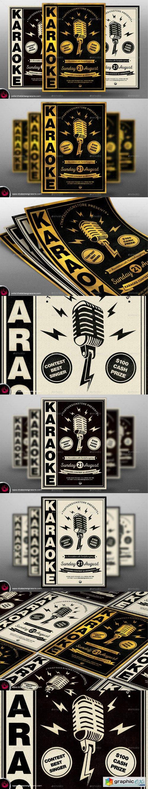 Karaoke Flyer Template V3 Free Download Vector Stock Image