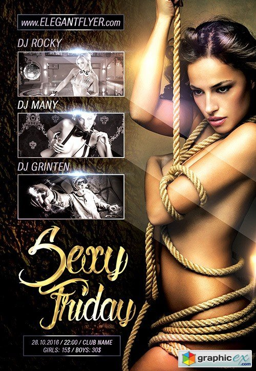 Sexy Friday Flyer PSD Template + Facebook Cover