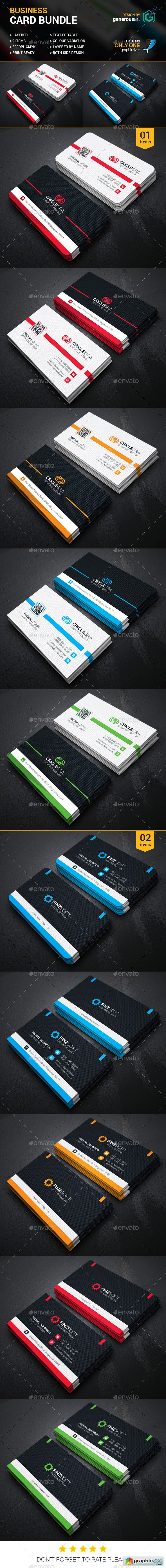 Business Card Bundle 2 in 1 Vol34
