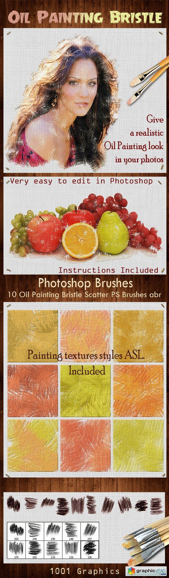 10 Oil Painting Bristle Scatter PS Brushes