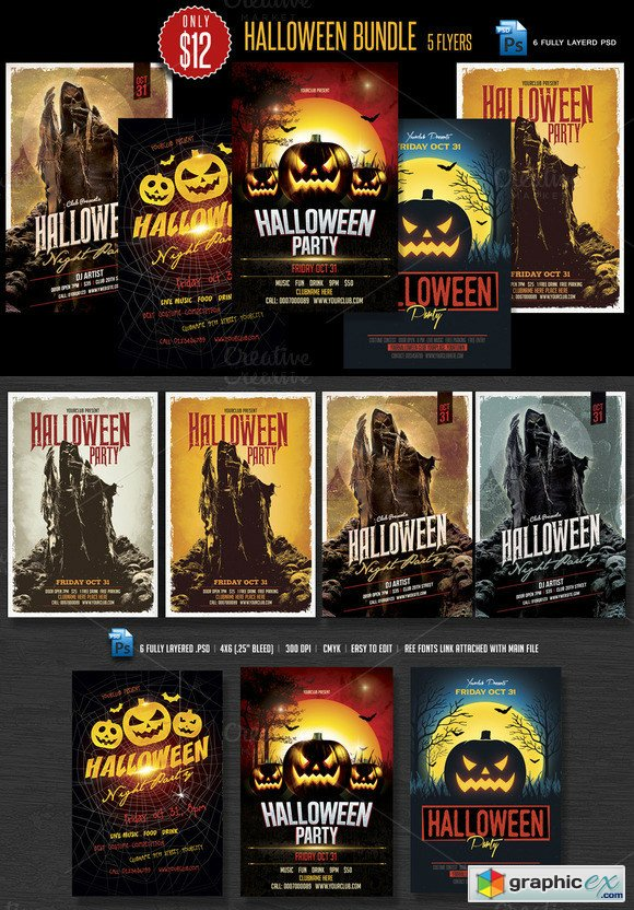 Hallowenn Flyer Bundle 400138