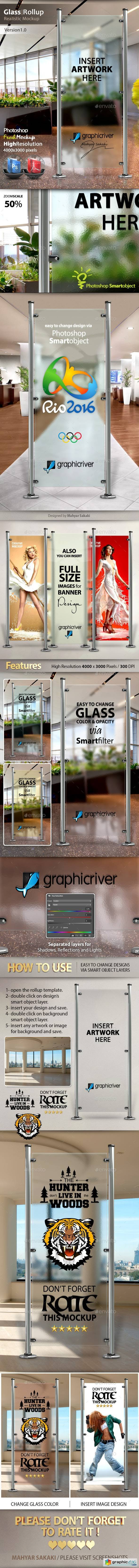 Glass Banner Rollup Mockup