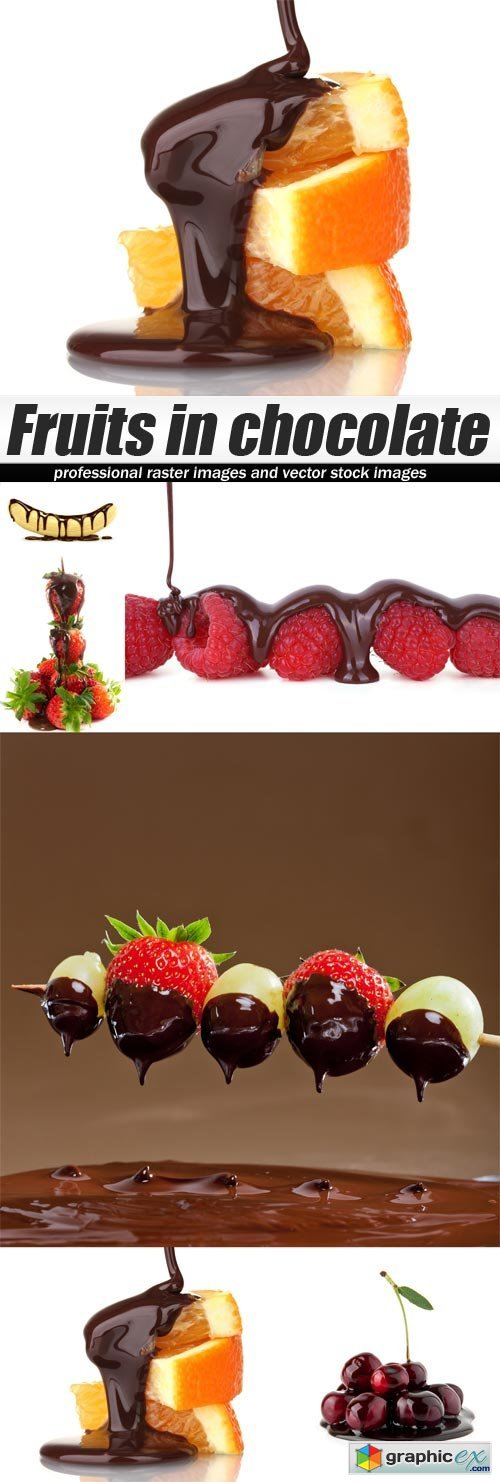 Fruits in chocolate