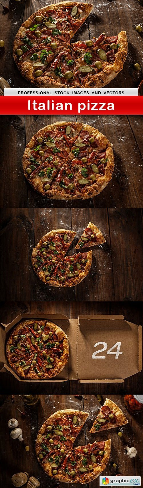 Italian pizza - 5 UHQ JPEG