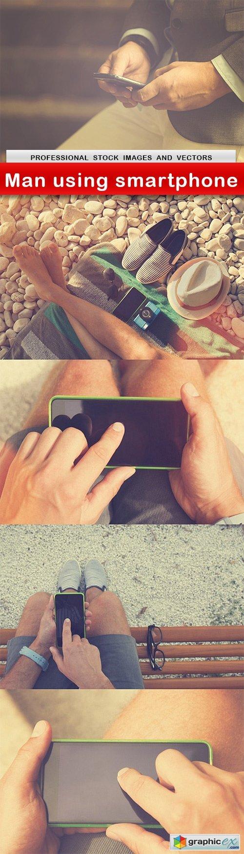 Man using smartphone - 5 UHQ JPEG