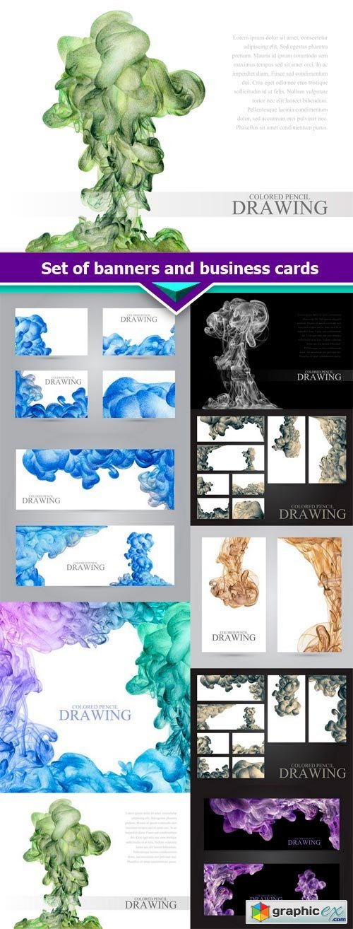 Set of banners and business cards 9X JPEG
