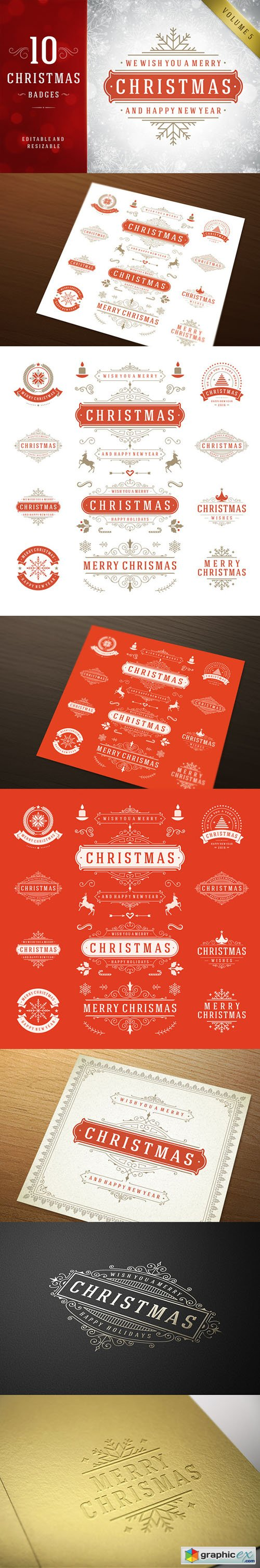 10 Christmas labels and badges 405730