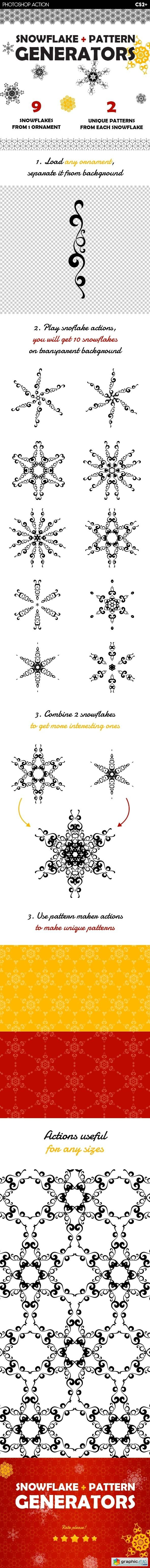 Snowflake & Christmas Pattern Generators
